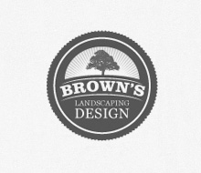 Brown's Landscaping Design Logo