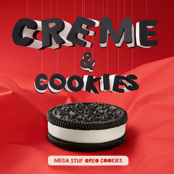 Mega Stuf OREO cookies: There's just more creme to love. #FlavorLove